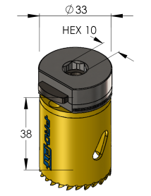 33 mm BiMetal PLUS ProFit gatzaag (var. tand)