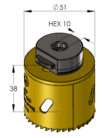 51 mm BiMetal PLUS ProFit gatzaag (var. tand)