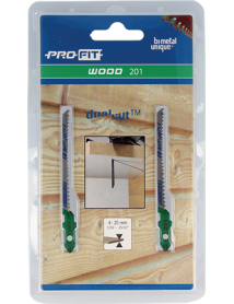 201 Hout 50x7,5x1,3 mm Variabele tand Bi-Directioneel 2-pack ProFit Decoupeerzagen