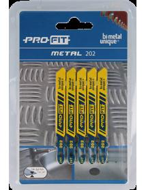 202 Metaal 50x7,5x1 mm 24 Tpi 5-pack Profit Decoupeerzagen