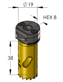 19 mm BiMetal PLUS ProFit gatzaag (reg. tand)