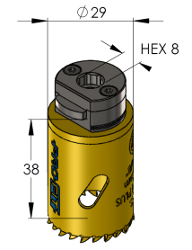 29 mm BiMetal PLUS ProFit gatzaag (reg. tand)
