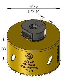 73 mm BiMetal PLUS ProFit gatzaag (reg. tand)