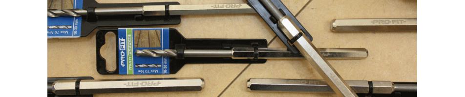Diverse centreerboren voor hot en steen 8 en 10 mm